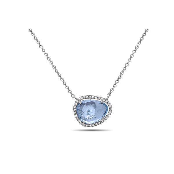 Blue Topaz and Diamond Necklace Darrah Cooper, Inc. Lake Placid, NY