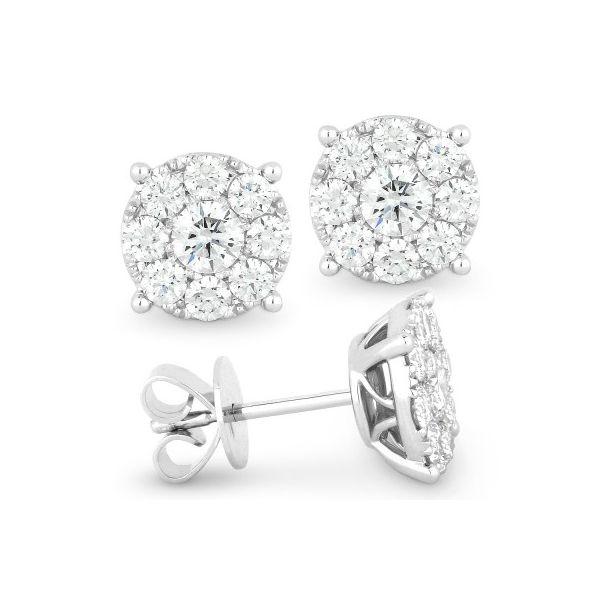 Diamond Cluster Earrings Darrah Cooper, Inc. Lake Placid, NY