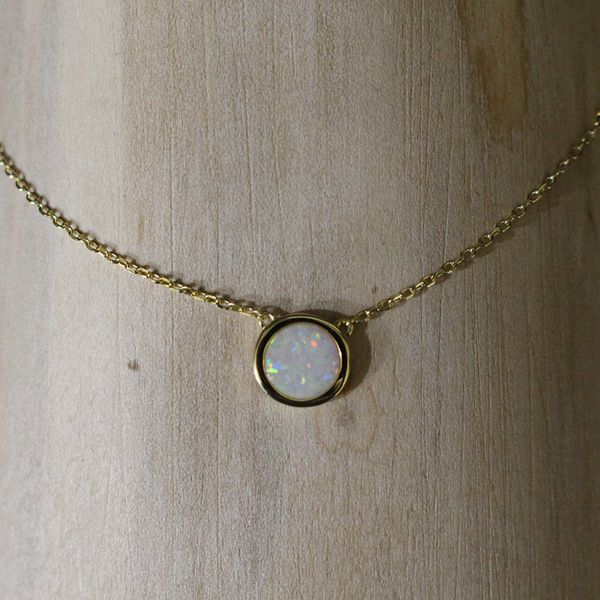 Synthetic White Opal Necklace Darrah Cooper, Inc. Lake Placid, NY