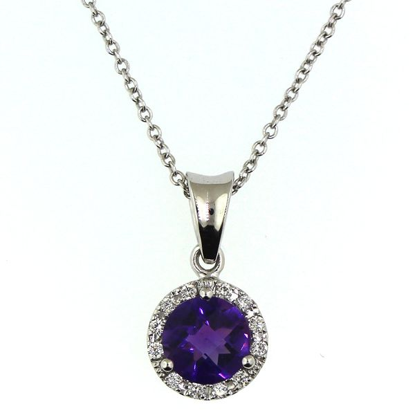 Amethyst and Diamond Necklace Darrah Cooper, Inc. Lake Placid, NY