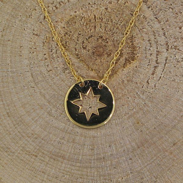 Cutout Star Disc Necklace Darrah Cooper, Inc. Lake Placid, NY