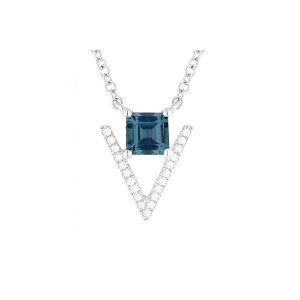 London Blue Topaz and Diamond Necklace Darrah Cooper, Inc. Lake Placid, NY