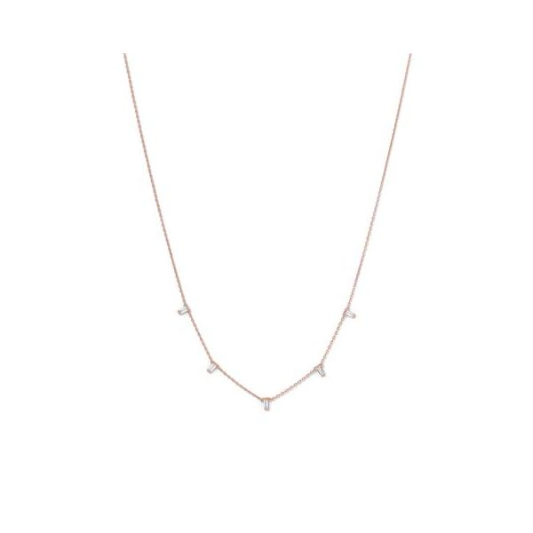 Rose Gold Plated Cubic Zirconia Necklace Darrah Cooper, Inc. Lake Placid, NY