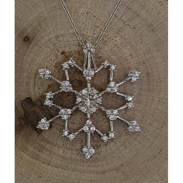 Cubic Zirconia Snowflake Necklace (Large) Darrah Cooper, Inc. Lake Placid, NY