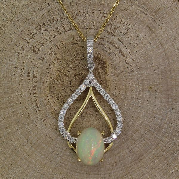 Opal and Diamond Necklace Darrah Cooper, Inc. Lake Placid, NY