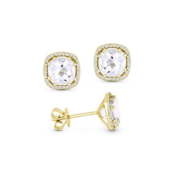 White Topaz and Diamond Earrings Darrah Cooper, Inc. Lake Placid, NY