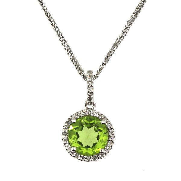 Peridot and Diamond Necklace Darrah Cooper, Inc. Lake Placid, NY