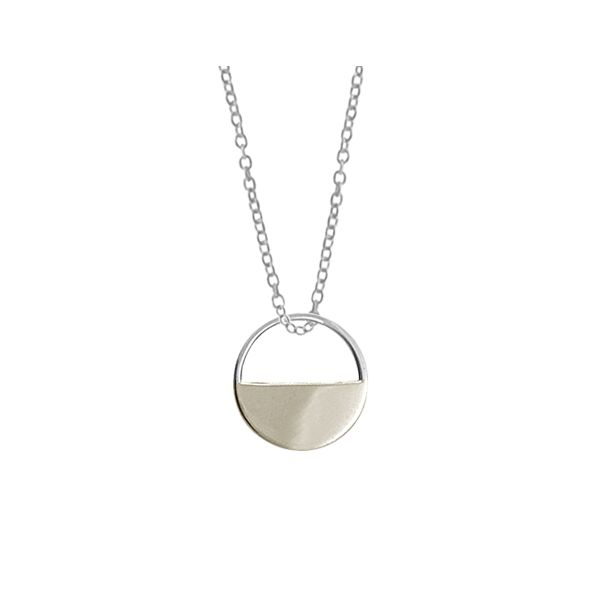 Satin Half Moon Disc Necklace Darrah Cooper, Inc. Lake Placid, NY
