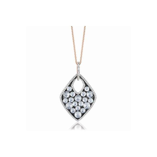 White Topaz and Diamond Necklace Darrah Cooper, Inc. Lake Placid, NY
