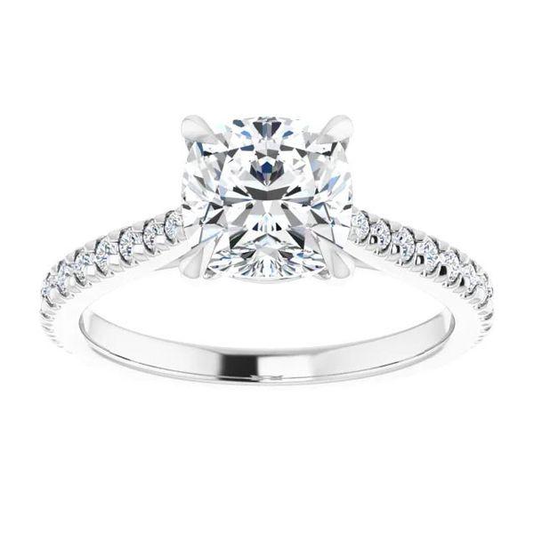 Platinum Moissanite Engagement Ring Image 3 David Douglas Diamonds & Jewelry Marietta, GA