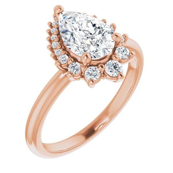 14k Graduated Halo Moissanite Engagement Ring David Douglas Diamonds & Jewelry Marietta, GA