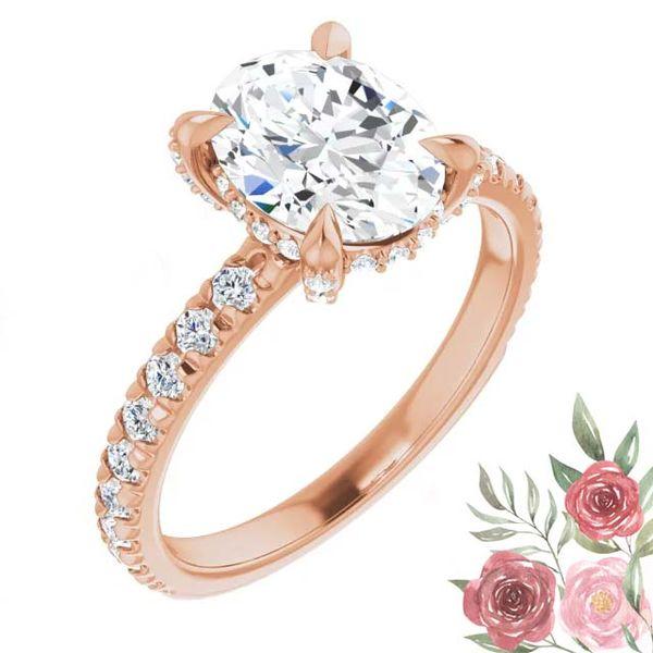 14k Accented Solitaire Lab Grown Diamond Engagement Ring David Douglas Diamonds & Jewelry Marietta, GA