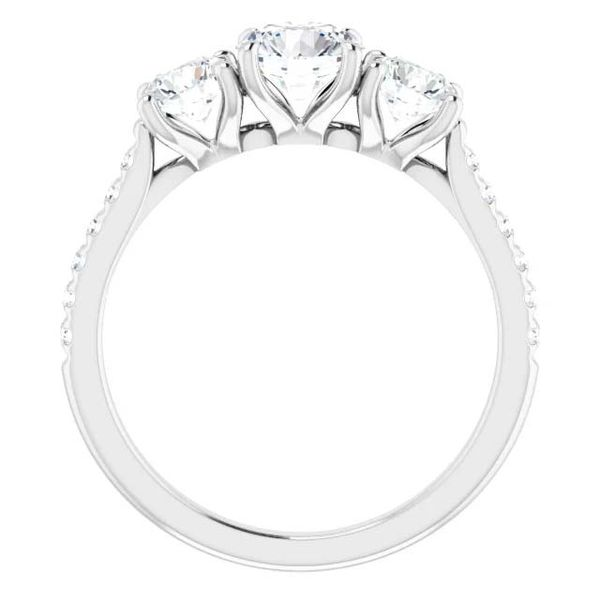 14k Three Stone Lab Grown Diamond Engagement Ring Image 2 David Douglas Diamonds & Jewelry Marietta, GA