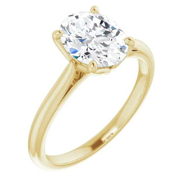 14k Moissanite Solitaire Engagement Ring David Douglas Diamonds & Jewelry Marietta, GA