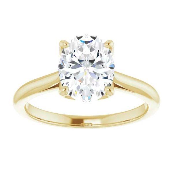 14k Moissanite Solitaire Engagement Ring Image 3 David Douglas Diamonds & Jewelry Marietta, GA