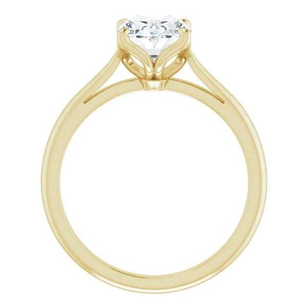 14k Moissanite Solitaire Engagement Ring Image 2 David Douglas Diamonds & Jewelry Marietta, GA