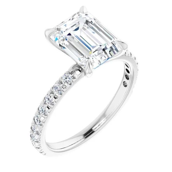 Platinum Single Row Solitaire Moissanite Engagement Ring David Douglas Diamonds & Jewelry Marietta, GA