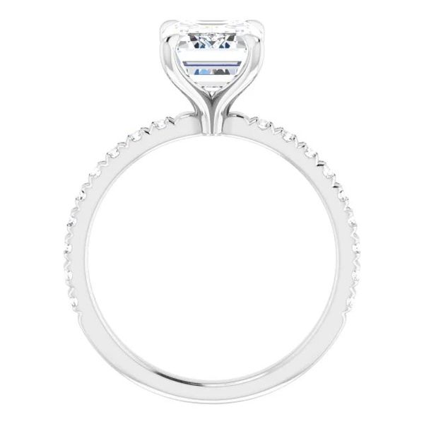 Platinum Single Row Solitaire Moissanite Engagement Ring Image 2 David Douglas Diamonds & Jewelry Marietta, GA