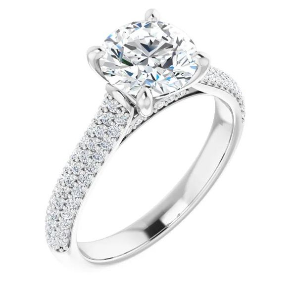 14k Pave Style Moissanite Engagement Ring David Douglas Diamonds & Jewelry Marietta, GA
