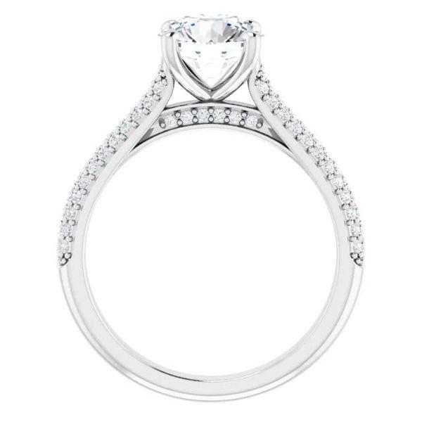 14k Pave Style Moissanite Engagement Ring Image 2 David Douglas Diamonds & Jewelry Marietta, GA