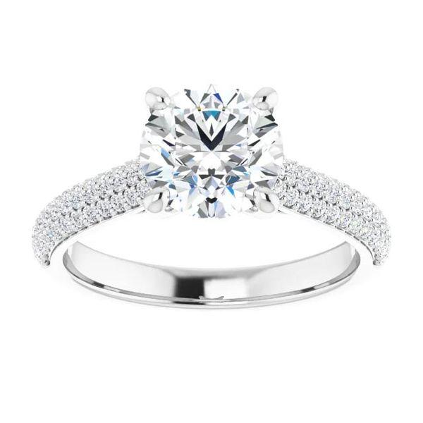 14k Pave Style Moissanite Engagement Ring Image 3 David Douglas Diamonds & Jewelry Marietta, GA