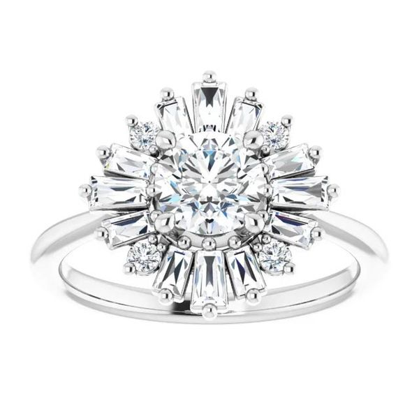 14k Multi Shape Halo Moissanite Engagement Ring Image 3 David Douglas Diamonds & Jewelry Marietta, GA