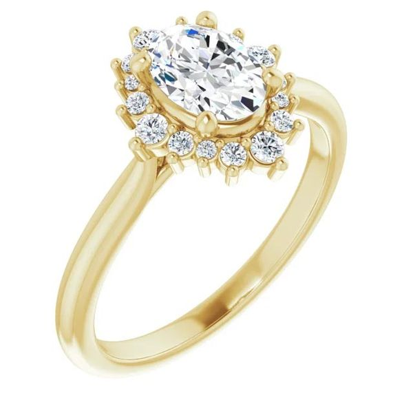 14k Multi Shape Halo Moissanite Engagement Ring David Douglas Diamonds & Jewelry Marietta, GA