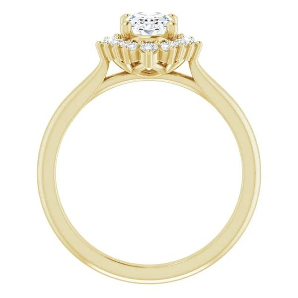 14k Multi Shape Halo Moissanite Engagement Ring Image 2 David Douglas Diamonds & Jewelry Marietta, GA