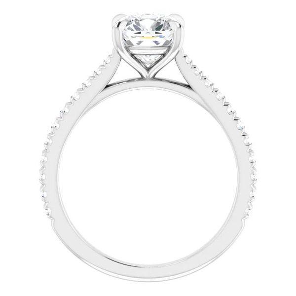 Platinum Moissanite Engagement Ring Image 2 David Douglas Diamonds & Jewelry Marietta, GA