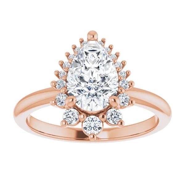 14k Graduated Halo Moissanite Engagement Ring Image 3 David Douglas Diamonds & Jewelry Marietta, GA