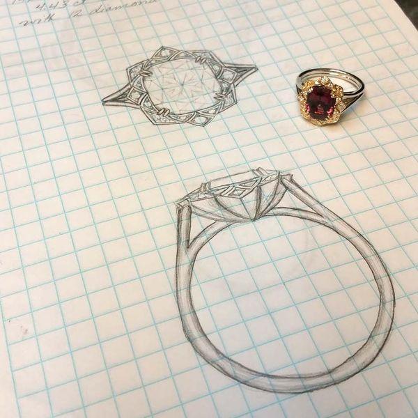 Rhodolite Garnet Gemstone Ring Image 3 David Douglas Diamonds & Jewelry Marietta, GA