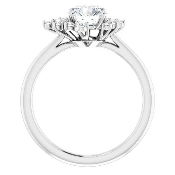 14k Scattered Halo Style Lab Grown Diamond Engagement Ring Image 2 David Douglas Diamonds & Jewelry Marietta, GA