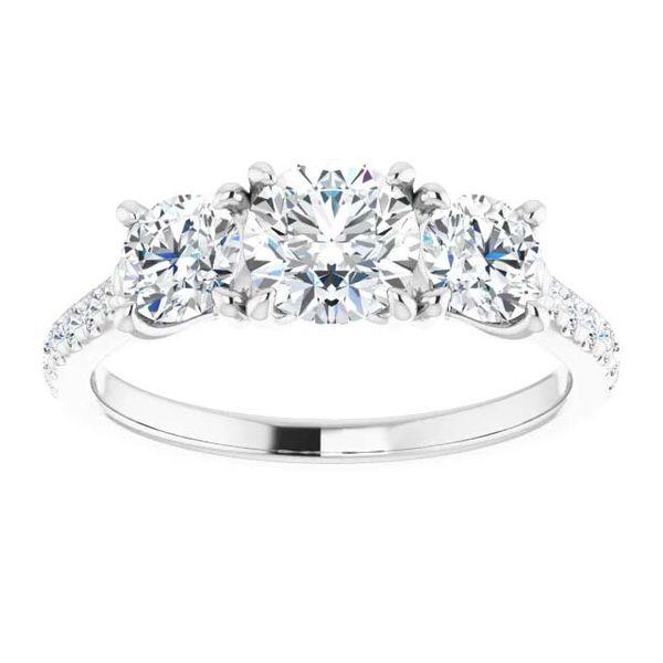 14k Three Stone Lab Grown Diamond Engagement Ring Image 3 David Douglas Diamonds & Jewelry Marietta, GA