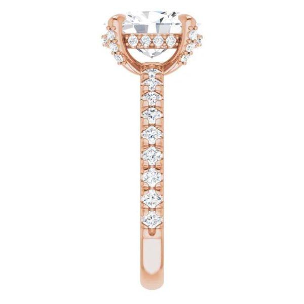 14k Accented Solitaire Lab Grown Diamond Engagement Ring Image 4 David Douglas Diamonds & Jewelry Marietta, GA