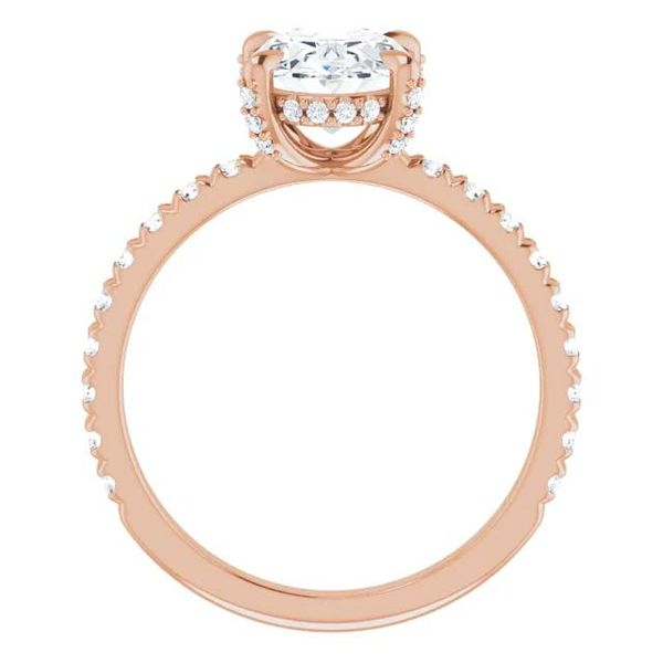 14k Accented Solitaire Lab Grown Diamond Engagement Ring Image 2 David Douglas Diamonds & Jewelry Marietta, GA