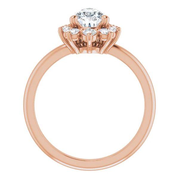 14k Graduated Halo Moissanite Engagement Ring Image 2 David Douglas Diamonds & Jewelry Marietta, GA