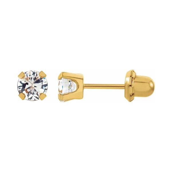24k Plated Stud Earrings | 3mm Image 2 David Douglas Diamonds & Jewelry Marietta, GA