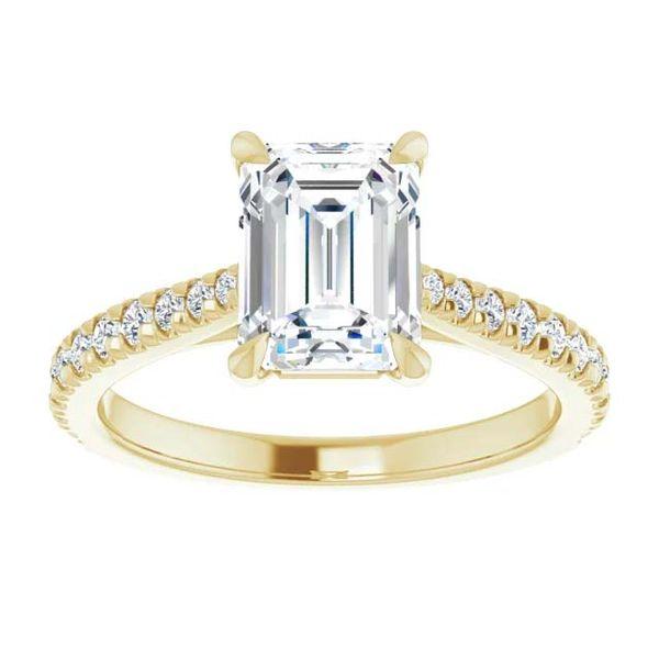 14k Tapered Lab Grown Diamond Engagement Ring Image 3 David Douglas Diamonds & Jewelry Marietta, GA