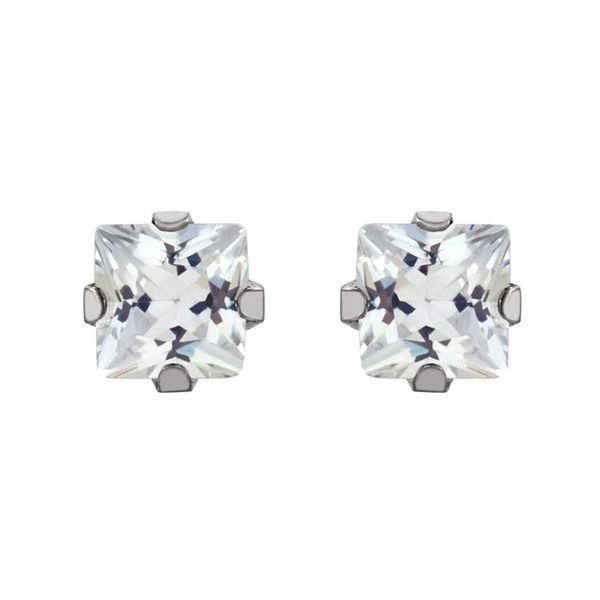 Stainless Steel Stud Earrings   3mm David Douglas Diamonds & Jewelry Marietta, GA