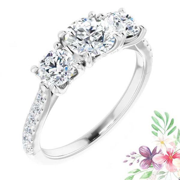 14k Three Stone Lab Grown Diamond Engagement Ring David Douglas Diamonds & Jewelry Marietta, GA
