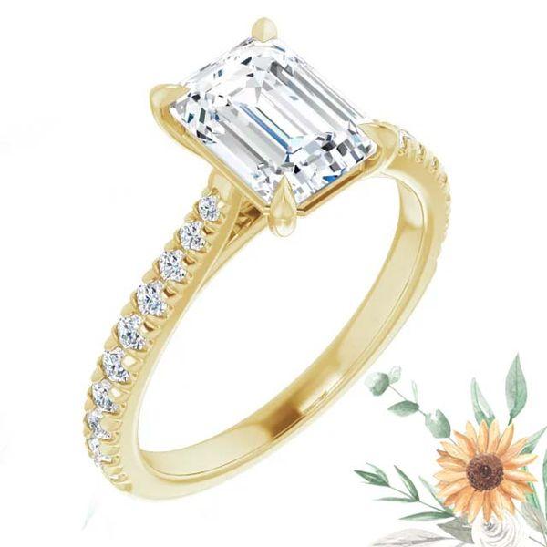 14k Tapered Lab Grown Diamond Engagement Ring David Douglas Diamonds & Jewelry Marietta, GA