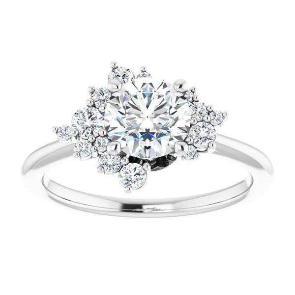 14k Scattered Halo Style Lab Grown Diamond Engagement Ring Image 3 David Douglas Diamonds & Jewelry Marietta, GA