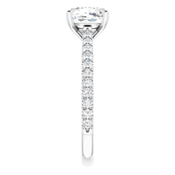 Platinum Moissanite Engagement Ring Image 4 David Douglas Diamonds & Jewelry Marietta, GA