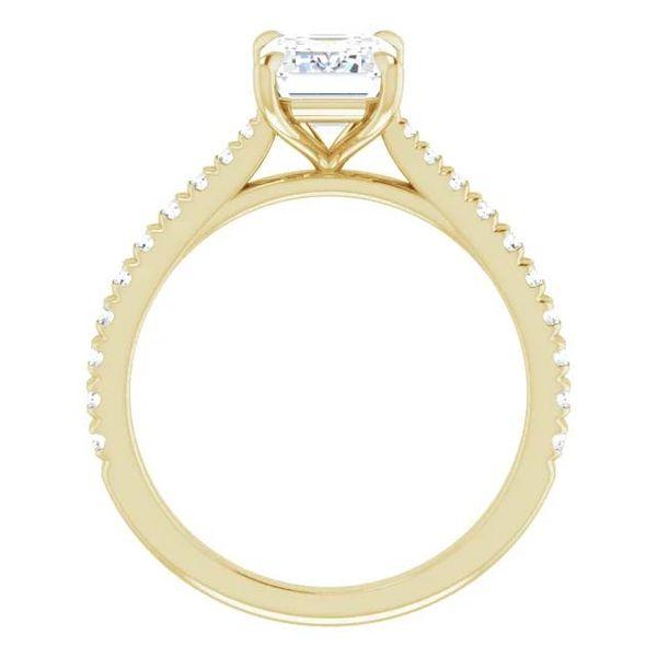 14k Tapered Lab Grown Diamond Engagement Ring Image 2 David Douglas Diamonds & Jewelry Marietta, GA