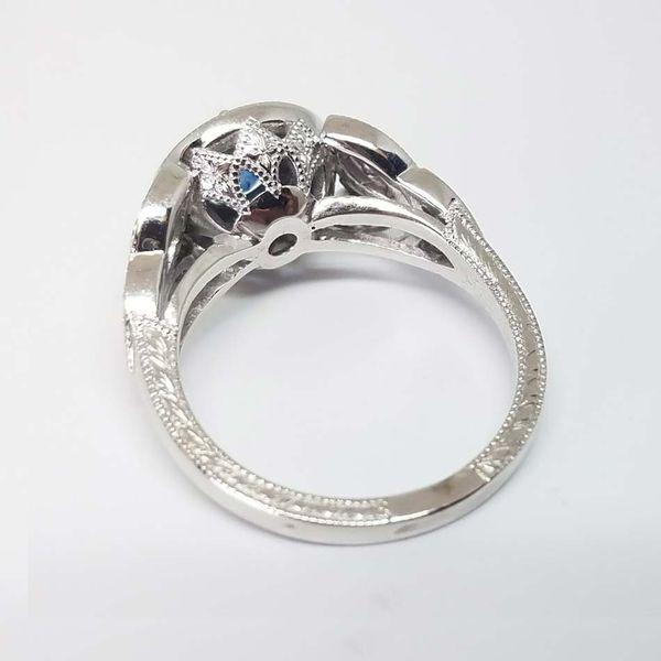 Montana Sapphire Halo Ring Image 3 David Douglas Diamonds & Jewelry Marietta, GA
