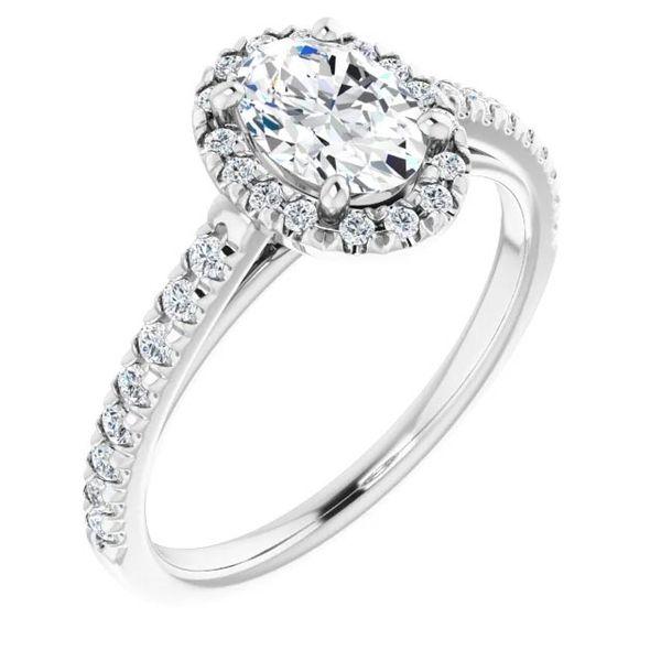Platinum Halo Moissanite Engagement Ring David Douglas Diamonds & Jewelry Marietta, GA
