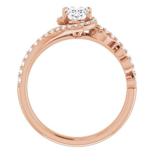 14k Scroll Bypass Moissanite Engagement Ring Image 2 David Douglas Diamonds & Jewelry Marietta, GA