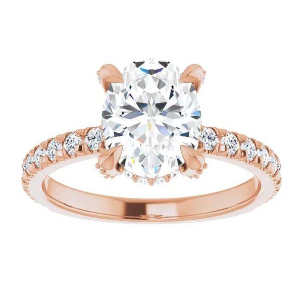 14k Accented Solitaire Lab Grown Diamond Engagement Ring Image 3 David Douglas Diamonds & Jewelry Marietta, GA