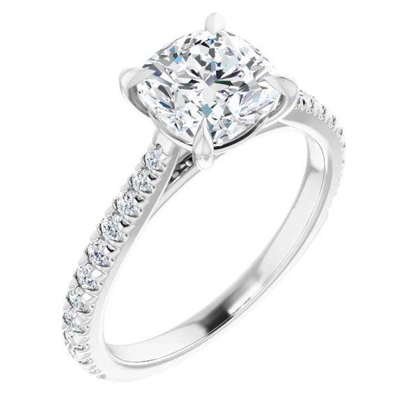 Platinum Moissanite Engagement Ring David Douglas Diamonds & Jewelry Marietta, GA