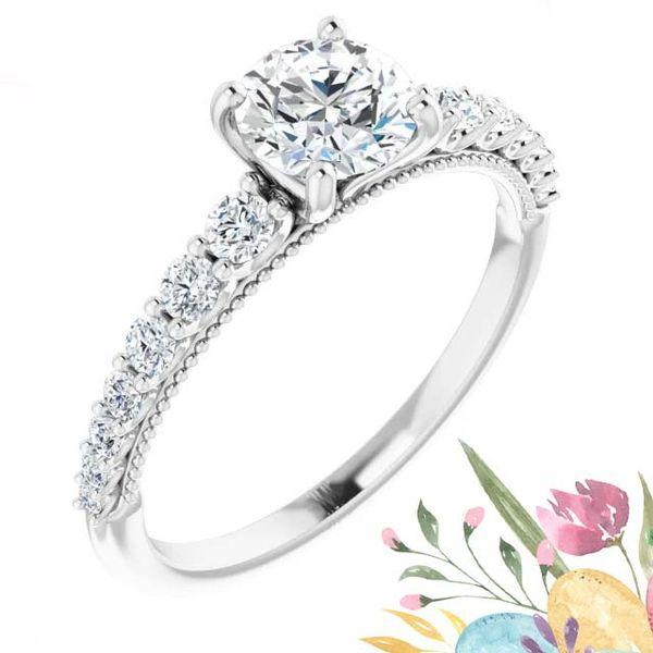 14k Graduating Lab Grown Diamond Engagement Ring David Douglas Diamonds & Jewelry Marietta, GA